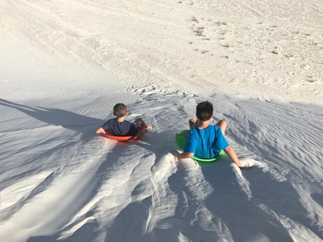 Gypsum sledding